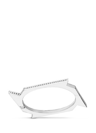 Main View - Click To Enlarge - Lynn Ban - 'Throwing Star D' diamond sterling silver bangle