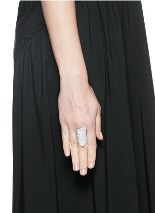 Figure View - Click To Enlarge - Lynn Ban - 'Pavé Armor' sterling silver ring