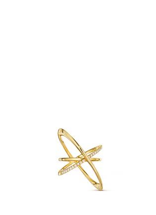Main View - Click To Enlarge - LYNN BAN - 'Pavé Orbit' diamond 14k gold ring