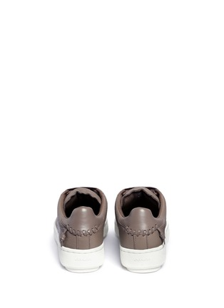 Back View - Click To Enlarge - Coach - 'C101' pebbled leather sneakers