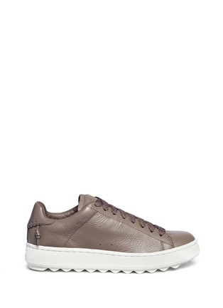 Main View - Click To Enlarge - Coach - 'C101' pebbled leather sneakers