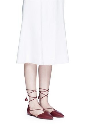 Figure View - Click To Enlarge - Coach - 'Johnson' leather lace-up d'Orsay flats