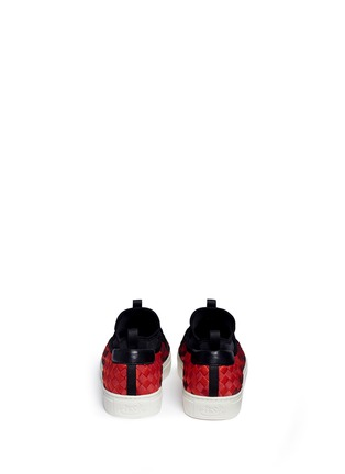Back View - Click To Enlarge - ASH - 'Larry' ombré woven skate slip-ons