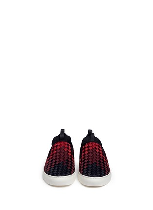 Front View - Click To Enlarge - ASH - 'Larry' ombré woven skate slip-ons