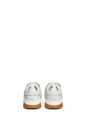 Back View - Click To Enlarge - Neil Barrett - 'Molecular Runner' nubuck leather mesh sneakers