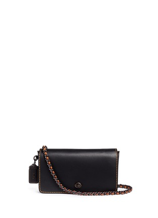 Main View - Click To Enlarge - Coach - 'Dinky' glovetanned leather crossbody bag