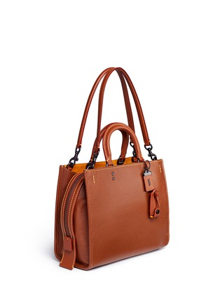 Front View - Click To Enlarge - Coach - 'Rogue' glovetanned leather bag