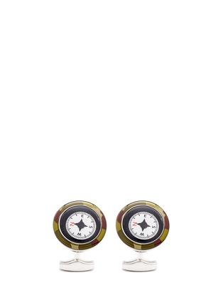 Main View - Click To Enlarge - Tateossian - Camouflage print compass cufflinks