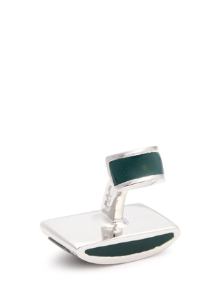 Detail View - Click To Enlarge - Tateossian - Tree agate dome cufflinks