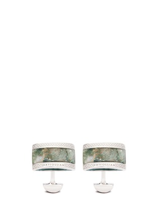 Main View - Click To Enlarge - Tateossian - Tree agate dome cufflinks