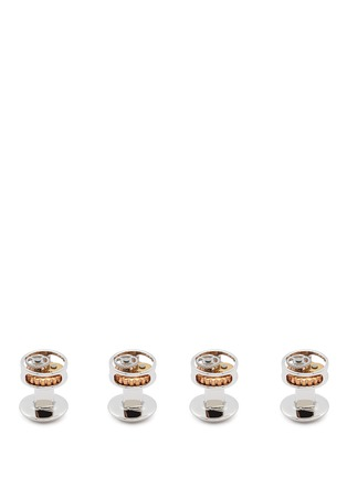Figure View - Click To Enlarge - Tateossian - Gear shirt stud and cufflink set