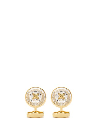Main View - Click To Enlarge - Tateossian - Swarovski crystal button shirt stud and cufflink set