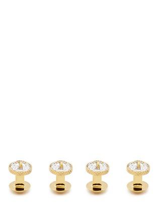 Figure View - Click To Enlarge - TATEOSSIAN - Swarovski crystal button shirt stud and cufflink set