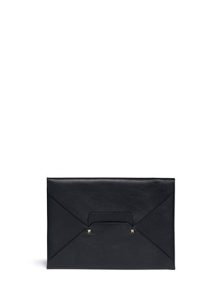 Main View - Click To Enlarge - VALENTINO - 'Rockstud Untitled 12' leather envelope clutch