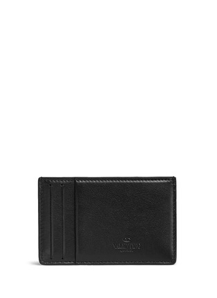 Figure View - Click To Enlarge - VALENTINO - 'Rockstud' leather cardholder