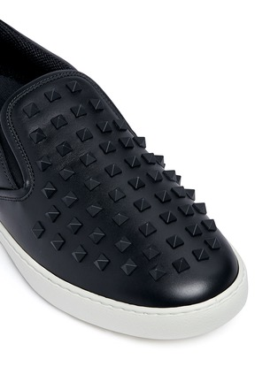 Detail View - Click To Enlarge - Valentino - 'Rockstud' leather skate slip-ons