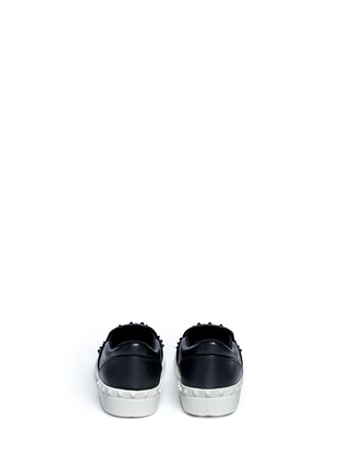 Back View - Click To Enlarge - Valentino - 'Rockstud' leather skate slip-ons