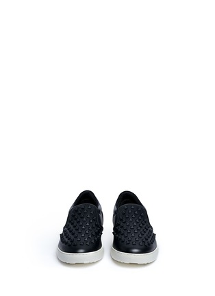 Front View - Click To Enlarge - Valentino - 'Rockstud' leather skate slip-ons