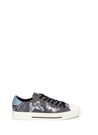Main View - Click To Enlarge - Valentino - 'Camubutterfly' embroidery sneakers