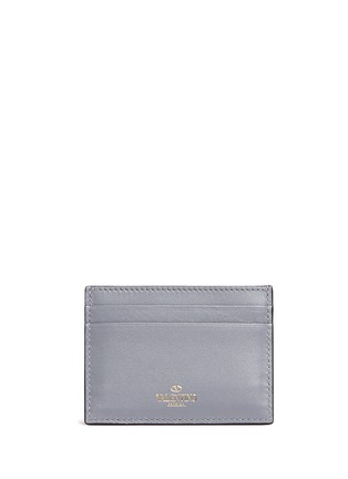 Back View - Click To Enlarge - Valentino - 'Rockstud' leather card holder