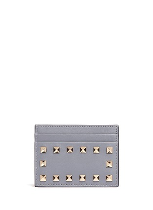 Main View - Click To Enlarge - Valentino - 'Rockstud' leather card holder