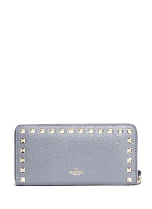 Figure View - Click To Enlarge - Valentino - 'Rockstud' leather zip continental wallet