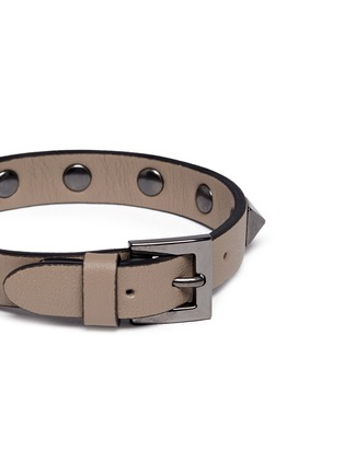 Detail View - Click To Enlarge - Valentino - 'Rockstud' leather bracelet
