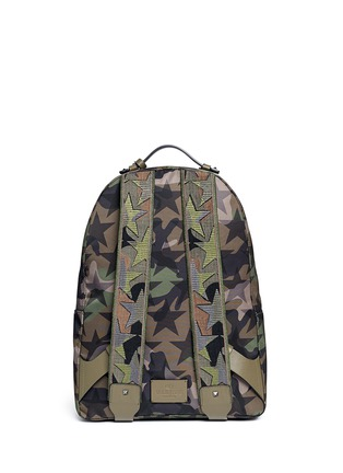 Back View - Click To Enlarge - VALENTINO - 'Camustars' nylon canvas backpack