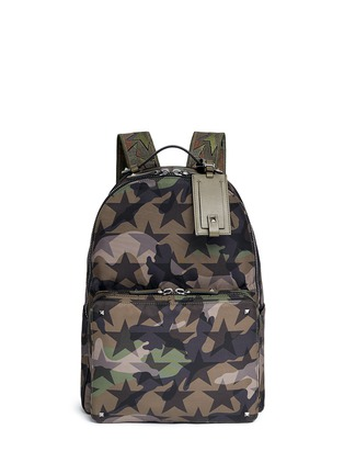 Main View - Click To Enlarge - VALENTINO - 'Camustars' nylon canvas backpack