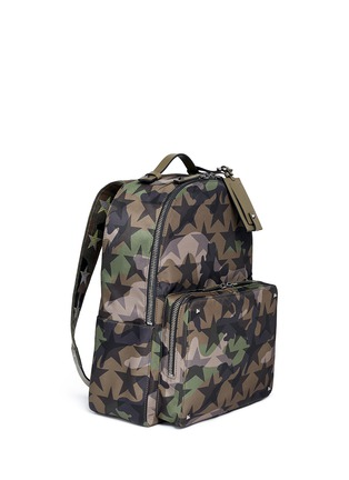 Figure View - Click To Enlarge - VALENTINO - 'Camustars' nylon canvas backpack