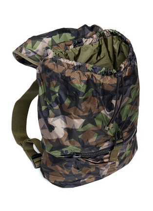 Detail View - Click To Enlarge - Valentino - 'Camustars' nylon backpack