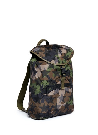 Front View - Click To Enlarge - Valentino - 'Camustars' nylon backpack