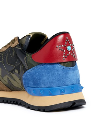 Detail View - Click To Enlarge - Valentino - 'Camustars Rockrunner' embellished sneakers