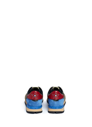 Back View - Click To Enlarge - Valentino - 'Camustars Rockrunner' embellished sneakers