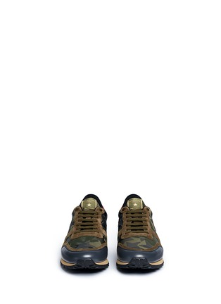 Front View - Click To Enlarge - Valentino - 'Camustars Rockrunner' embellished sneakers