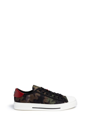 Main View - Click To Enlarge - Valentino - Star camouflage sneakers