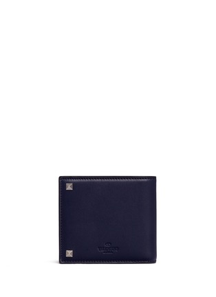 Back View - Click To Enlarge - Valentino - 'Rockstud' leather bifold wallet