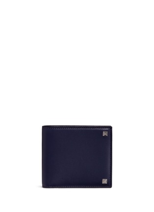 Main View - Click To Enlarge - Valentino - 'Rockstud' leather bifold wallet