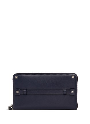 Main View - Click To Enlarge - Valentino - 'Rockstud' leather continental wallet