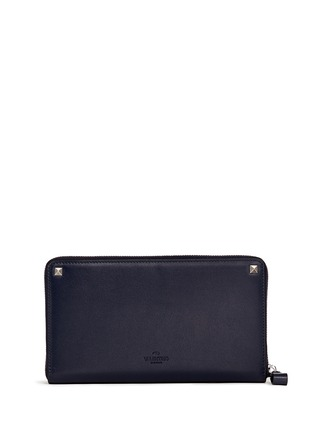 Figure View - Click To Enlarge - VALENTINO - 'Rockstud' leather continental wallet