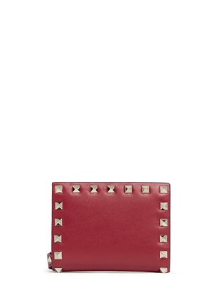 Main View - Click To Enlarge - Valentino - 'Rockstud' leather fold flap wallet