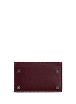 Main View - Click To Enlarge - Valentino - 'Rockstud' leather cardholder