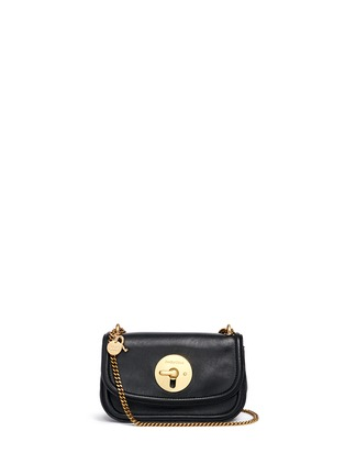 Main View - Click To Enlarge - See by Chloé - 'Lois' turnlock sheepskin leather shoulder bag