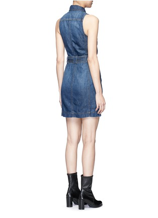 Back View - Click To Enlarge - J Brand - 'Caressa' belted denim dress