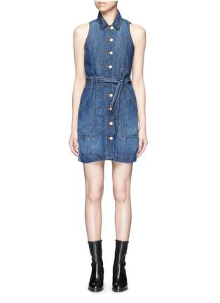 Main View - Click To Enlarge - J Brand - 'Caressa' belted denim dress