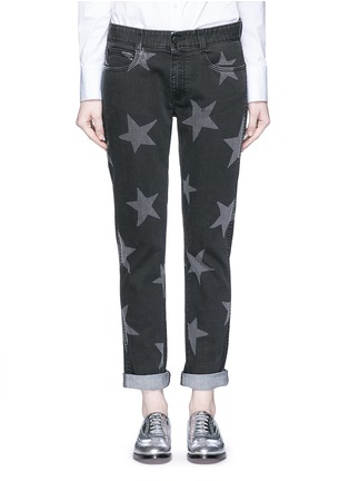 Detail View - Click To Enlarge - Stella McCartney - Star print skinny boyfriend jeans