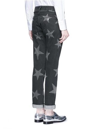Back View - Click To Enlarge - Stella McCartney - Star print skinny boyfriend jeans