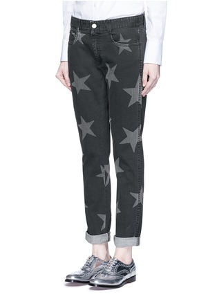 Front View - Click To Enlarge - Stella McCartney - Star print skinny boyfriend jeans