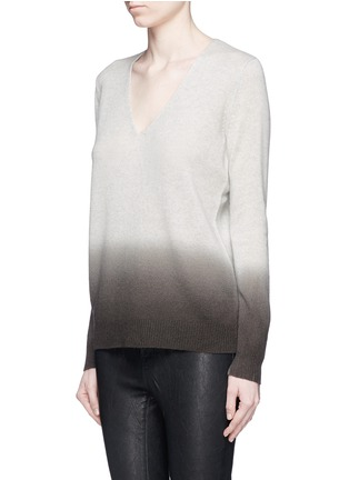Front View - Click To Enlarge - Theory - 'Adrianna FD' ombré effect cashmere sweater