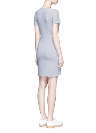 Back View - Click To Enlarge - Theory - 'Dakui' stripe waist tie jersey dress